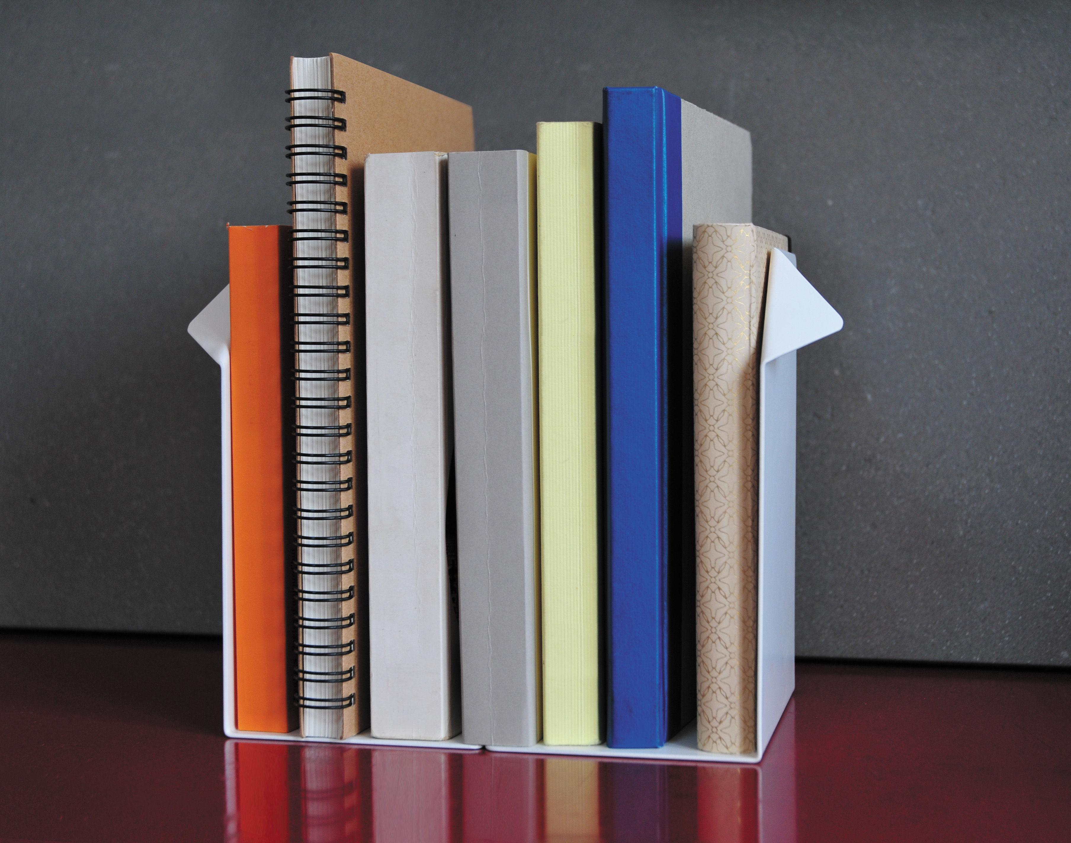 Office set 5 accessori da scrivania bianco righello for Accessori da ufficio design