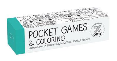 Set Pocket Games City / 1 m de jeux & coloriage + Crayon 8 mines - OMY Design & Play blanc,noir en papier
