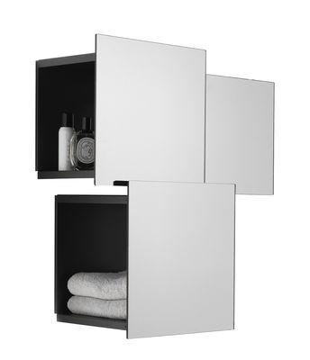 Furniture - Bookcases & Bookshelves - DPI Shelf by Mogg - Mirror - Glass, Varnished metal
