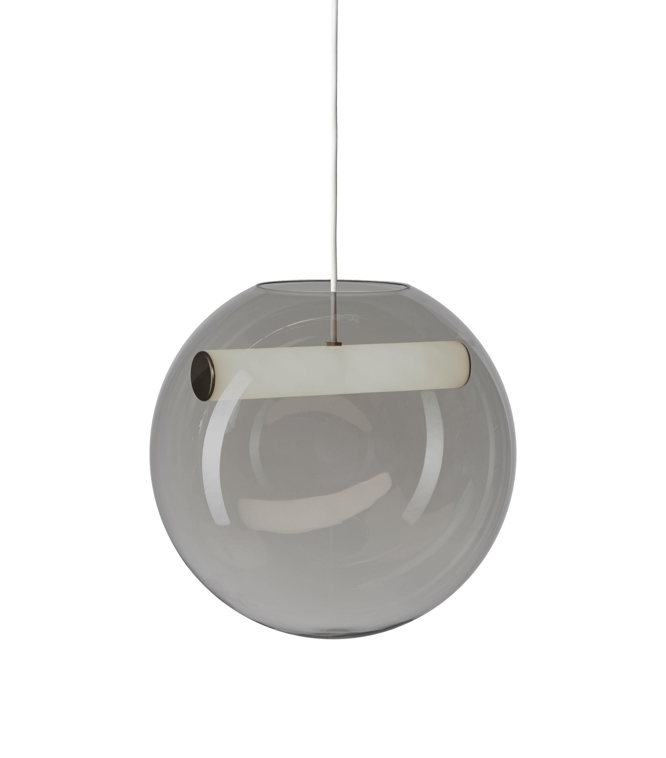 Illuminazione - Lampadari - Sospensione Reveal LED - / Vetro soffiato di Northern  - Grigio fumé - Acrilico, Vetro soffiato a bocca
