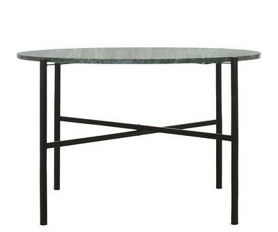 Table basse The Green Ø 70 x H 45 cm Marbre vert House Doctor noir,vert en pierre