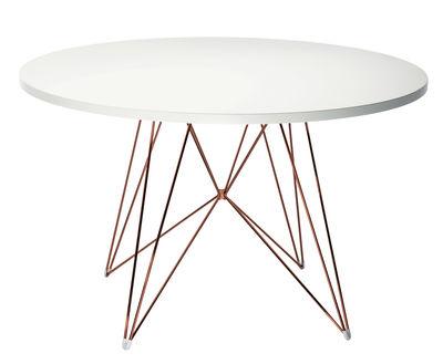 Table XZ3 / Ronde - Ø 120 cm - Magis blanc,cuivre en métal