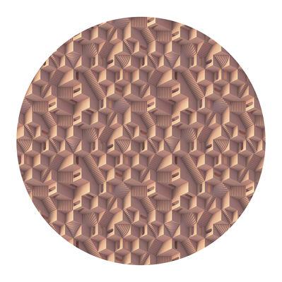 Déco - Tapis - Tapis Maze - Miami / Ø 250 cm - Moooi Carpets - Rose / Miami - Polyamide