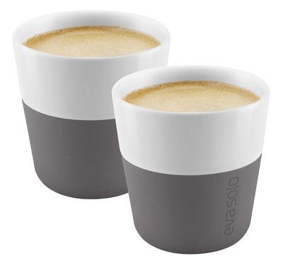 Tasse à espresso / Set de 2 - 80 ml - Eva Solo blanc,gris éléphant en céramique