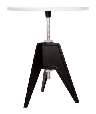 Arredamento - Tavolini  - Tavolo ad altezza regolabile Screw - regolabile in altezza di Tom Dixon - Ø 60 cm - Nero/bianco - Alluminio, Ghisa, Marmo