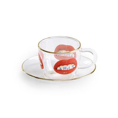 Tavola - Tazze e Boccali - Tazzina da caffè Toiletpaper - Shit di Seletti - Shit - Vetro borosilicato