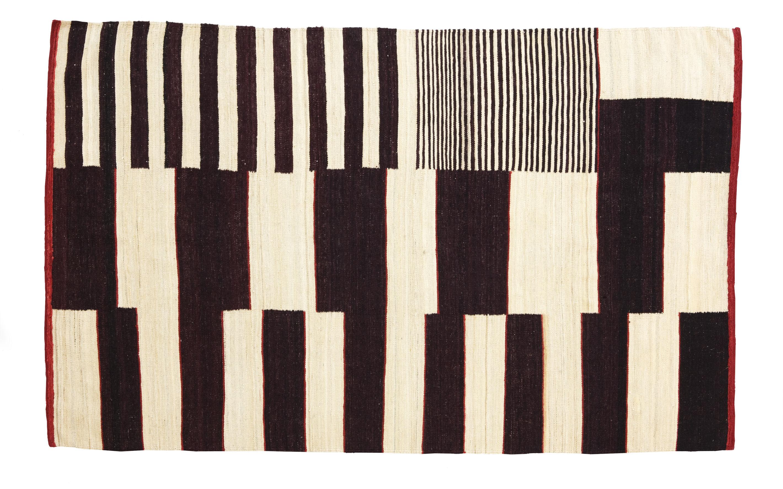 Möbel - Teppiche - Medina Teppich Modell N° 1 - 170 x 240 cm - Nanimarquina - Braun & Weiß - Wolle