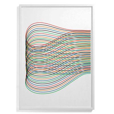Affiche encadrée Pierre Charpin - Loop 3 / Edition limitée & numérotée - 81 x 110 cm - The Wrong Shop multicolore en papier