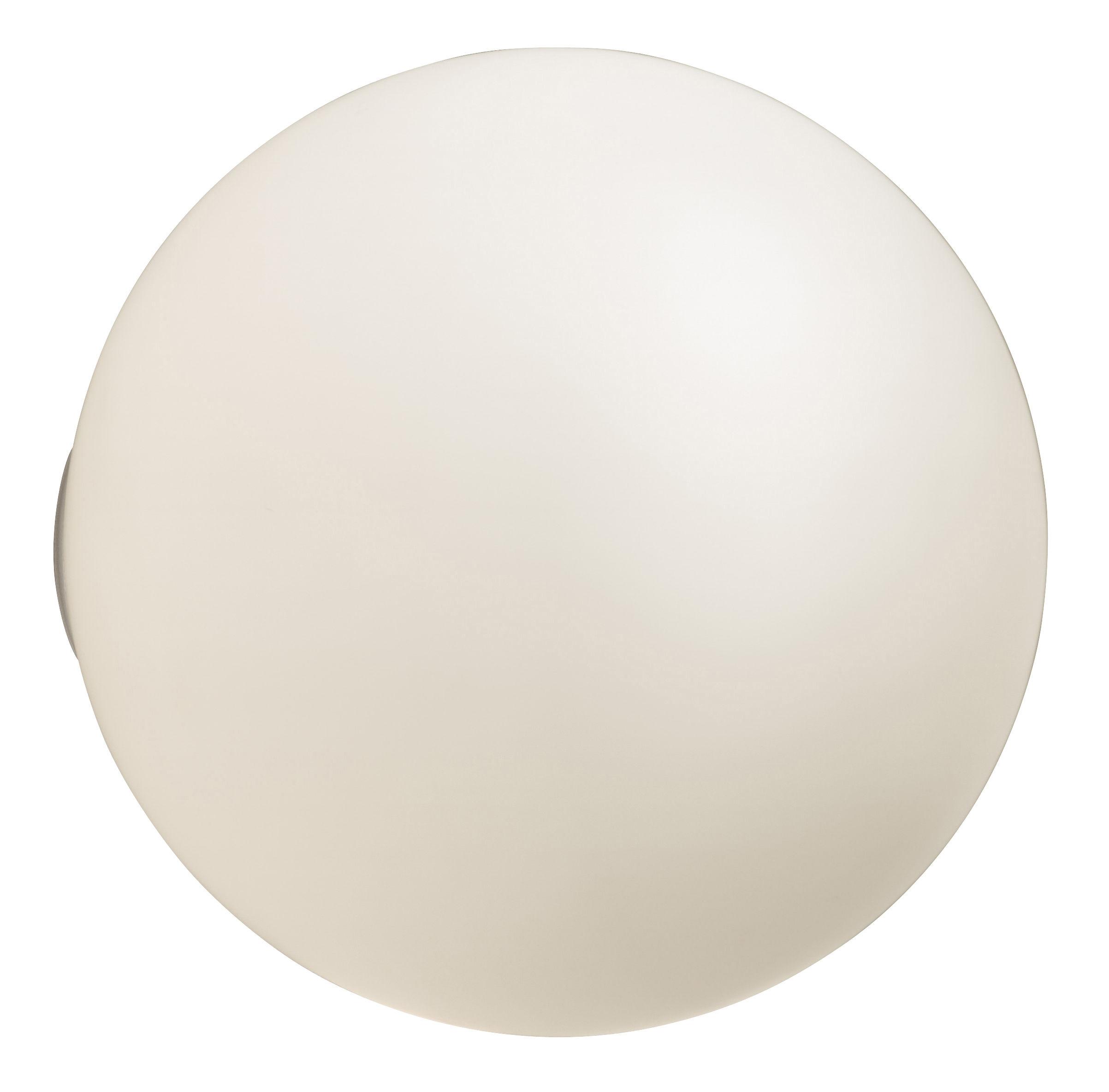 Luminaire - Appliques - Applique d'extérieur Dioscuri / Plafonnier - Artemide - Ø 25 cm - Blanc - Verre soufflé