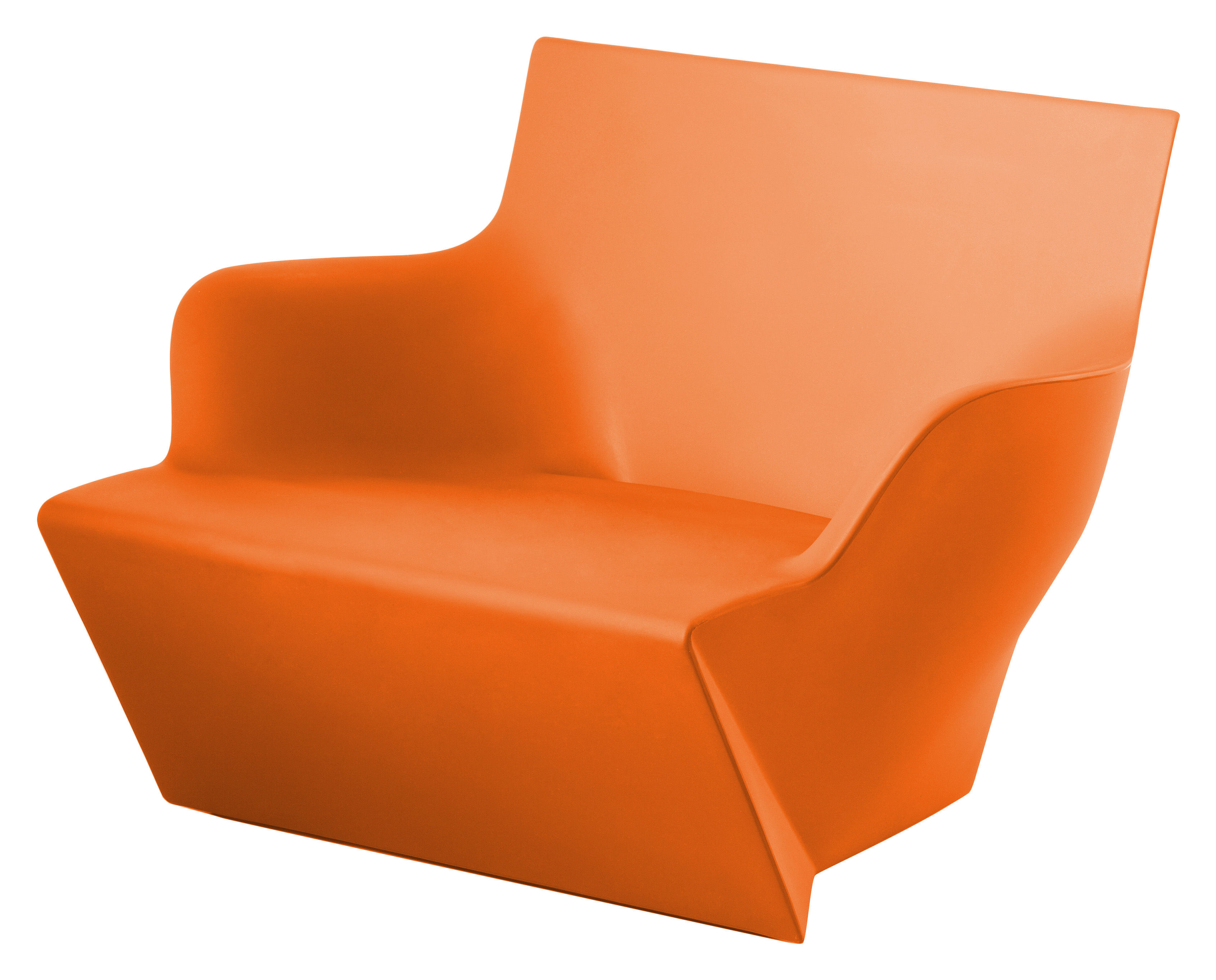 Furniture - Armchairs - Kami San Armchair by Slide - Orange - recyclable polyethylene