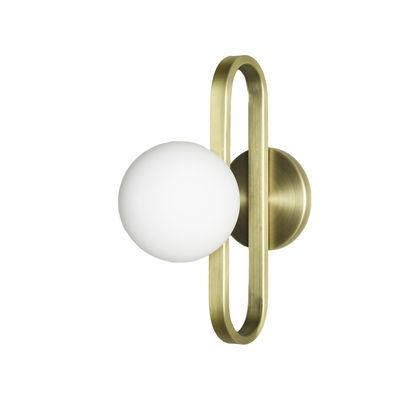 Lighting - Wall Lights - Cime Small OUTDOOR Bathroom wall light - / Ø 12 cm by ENOstudio - Ø 12 cm / Gold - Blown glass, Steel