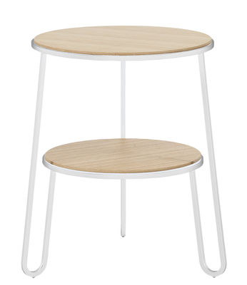 Möbel - Couchtische - Anatole Beistelltisch / Ø 40 cm x H 50 cm - Hartô - Weiß - Holzfaserplatte, Stahl