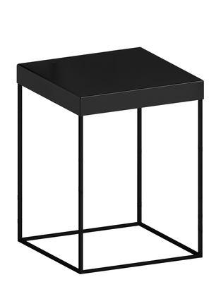 Möbel - Couchtische - Slim Up Beistelltisch / 41 x 41 x H 46 cm - Zeus - Schwarzbraun - bemalter Stahl