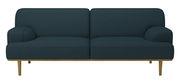 Canapé droit Madison Tissu 2½ places L 204 cm Bolia bleu pétrole en tissu