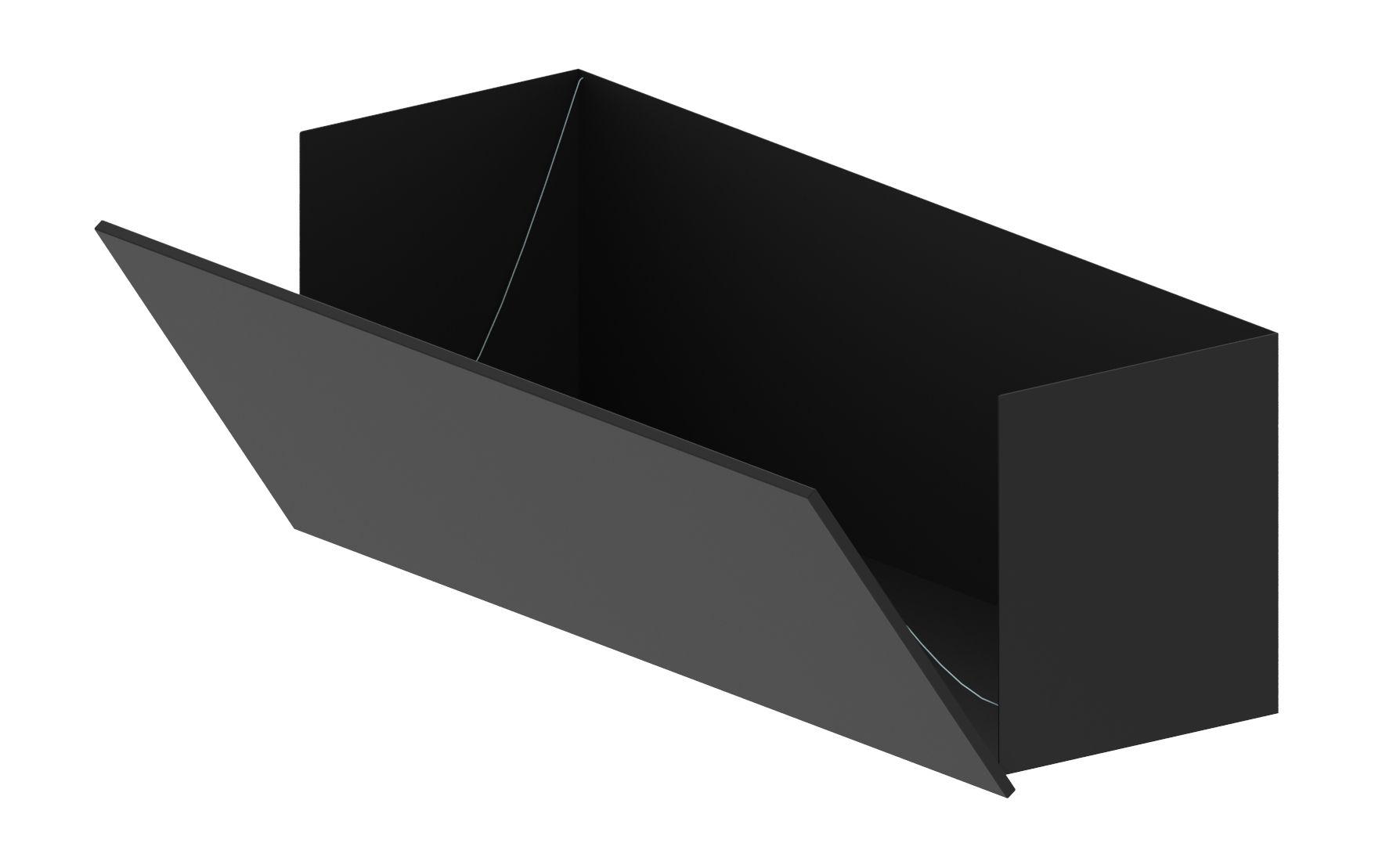 Arredamento - Scaffali e librerie - Cassettiera - con anta /Per libreria Easy Irony - L 100 cm di Zeus - Nero ramato - Acciaio verniciato