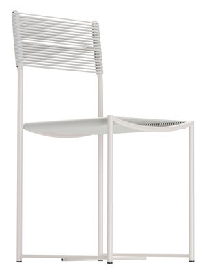 Furniture - Chairs - Spaghetti Chair - 1979's design - Exhibited at the MoMA by Alias - Textured white / White - Lacquered steel, PVC wire