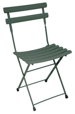 Chaise pliante Arc en Ciel / Métal - Emu vert en métal