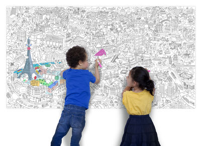 Xxl Paris Colouring Poster Giant L 180 X 100 Cm By Omy Design Play