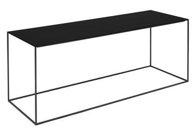 Möbel - Couchtische - Slim Irony Couchtisch / 124 x 41 x H 46 cm - Zeus - Ablageplatte schwarzbraun / Gestell schwarzbraun - bemalter Stahl