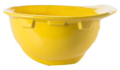Coupe Work is Over / Casque chantier porcelaine - Diesel living with Seletti jaune en céramique