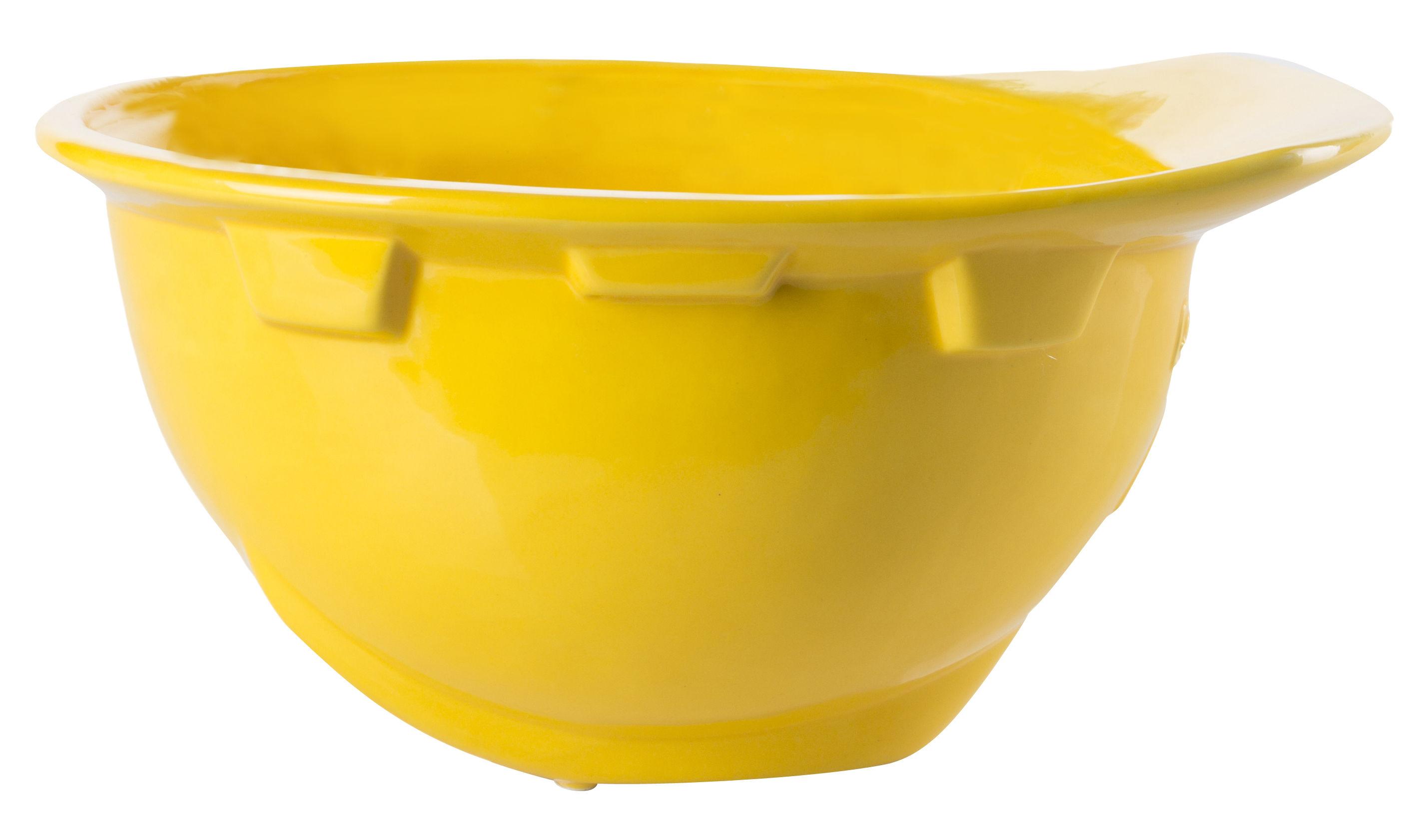 Arts de la table - Saladiers, coupes et bols - Coupe Work is Over / Casque chantier porcelaine - Diesel living with Seletti - Jaune - Porcelaine