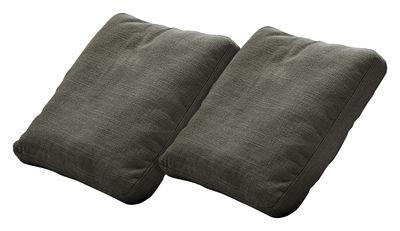 Coussin Plastics Duo lot de 2 - Kartell gris en tissu