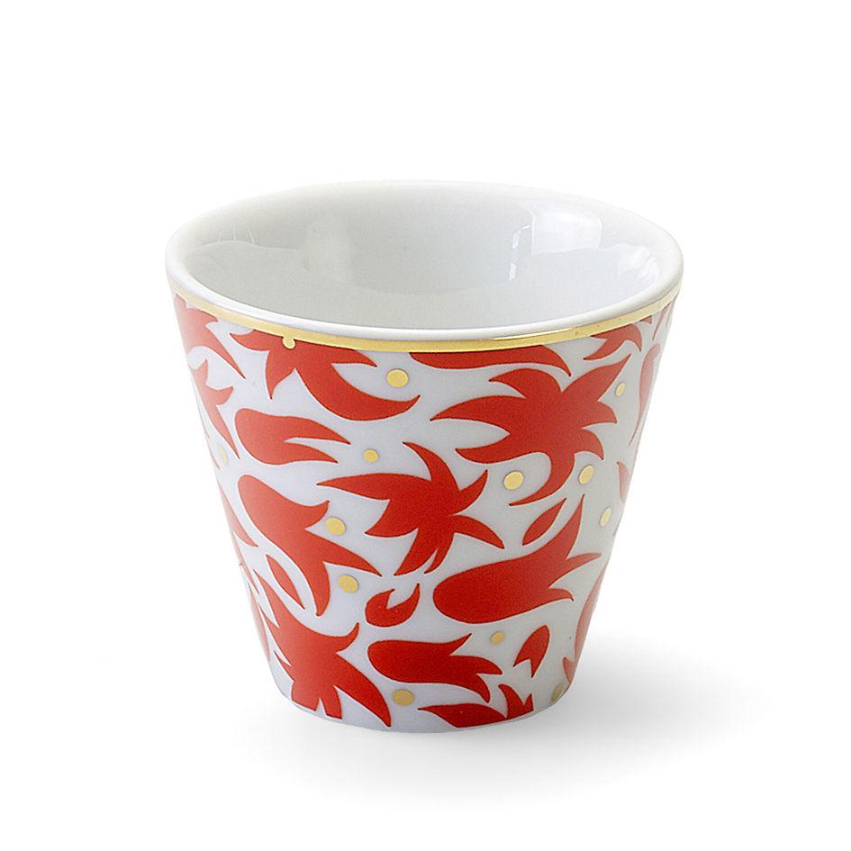 Tableware - Coffee Mugs & Tea Cups - Fiamma Cup - / Ø 6.5 x H 6 cm by Bitossi Home - Floral - China