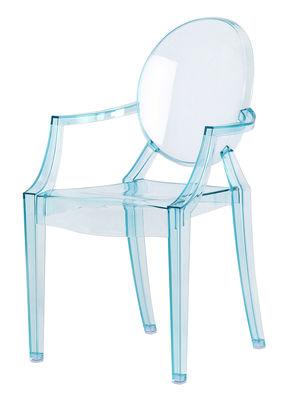 Mobilier - Mobilier Kids - Fauteuil enfant Lou Lou Ghost - Kartell - Bleu transparent - Polycarbonate