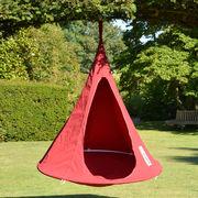 Fauteuil suspendu Bebo Tente Ø 120 cm Pour enfant Cacoon rouge en tissu