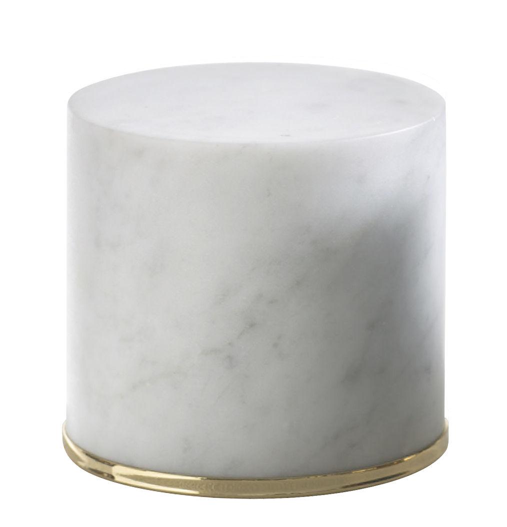 Accessori moda - Pratici e intelligenti - Fermaporta - / Marmo - H 10 cm di Opinion Ciatti - Bianco / Oro 24 carati - Acciaio con finitura in oro 24 carati, Marmo di Carrara