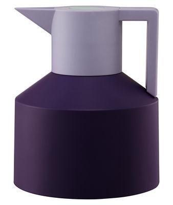 Tischkultur - Tee und Kaffee - Geo Isolierkrug - Normann Copenhagen - Violett / mauve mit türkisfarbenem Druckknopf - Plastik