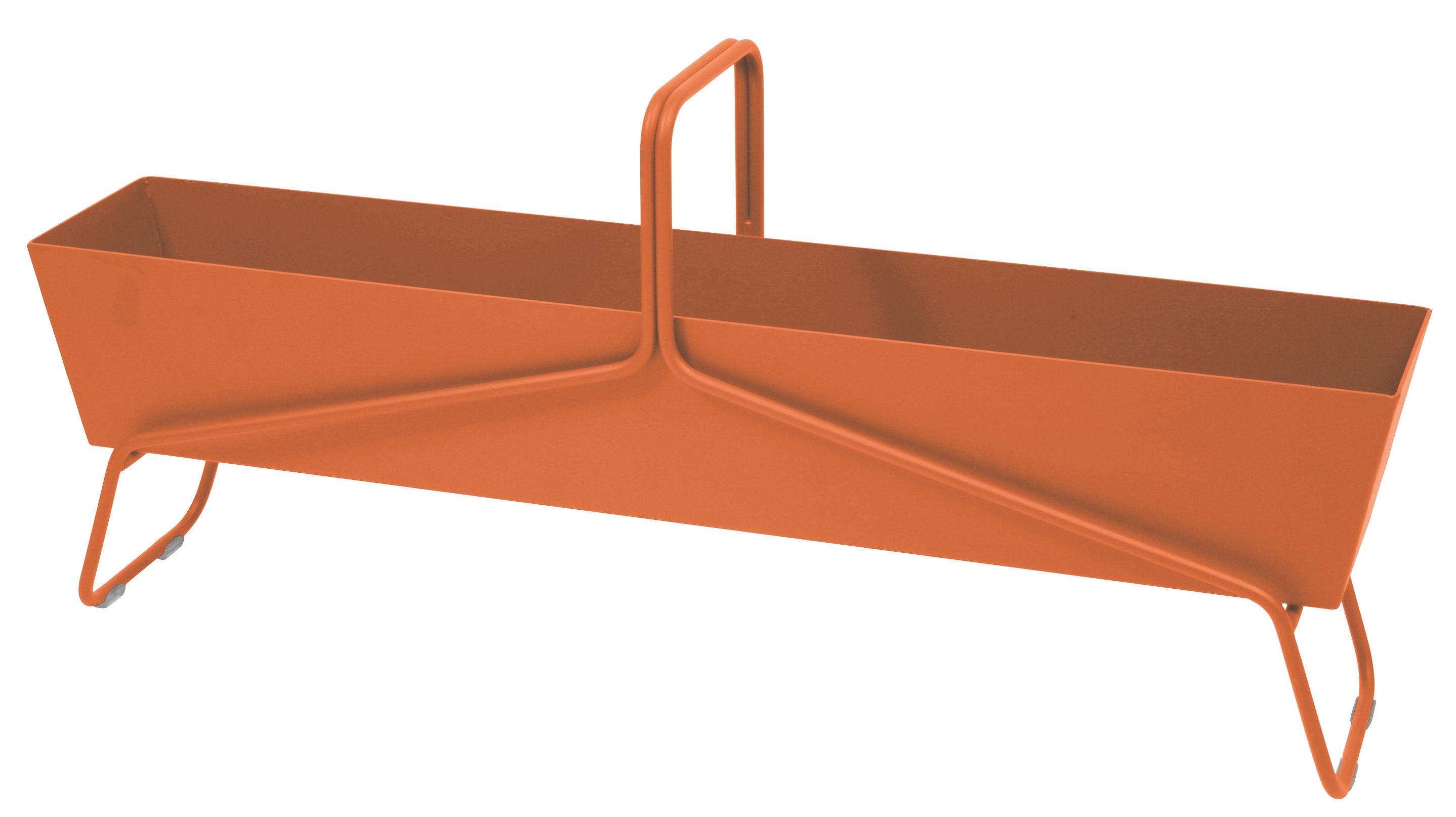 Outdoor - Pots et plantes - Jardinière Basket longue / L 119 x H 54 cm - Fermob - Carotte - Acier, Aluminium