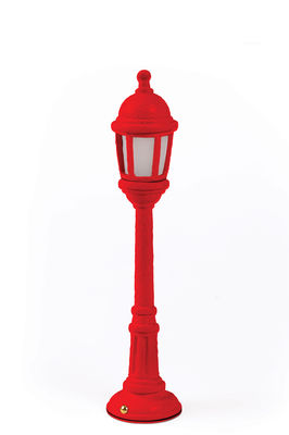 Illuminazione - Lampade da tavolo - Lampada senza fili Street Lamp Outdoor - / H 42 cm - Ricarica USB di Seletti - Rosso - Resina