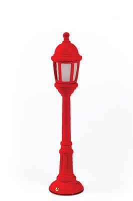 Lampe sans fil Street Lamp Outdoor / H 42 cm - Recharge USB - Seletti rouge en matière plastique