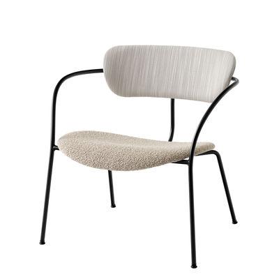 Furniture - Armchairs - Pavilion AV11 Low armchair - / Fabric by &tradition - Ecru - Fabric, Foam, Plywood, Steel