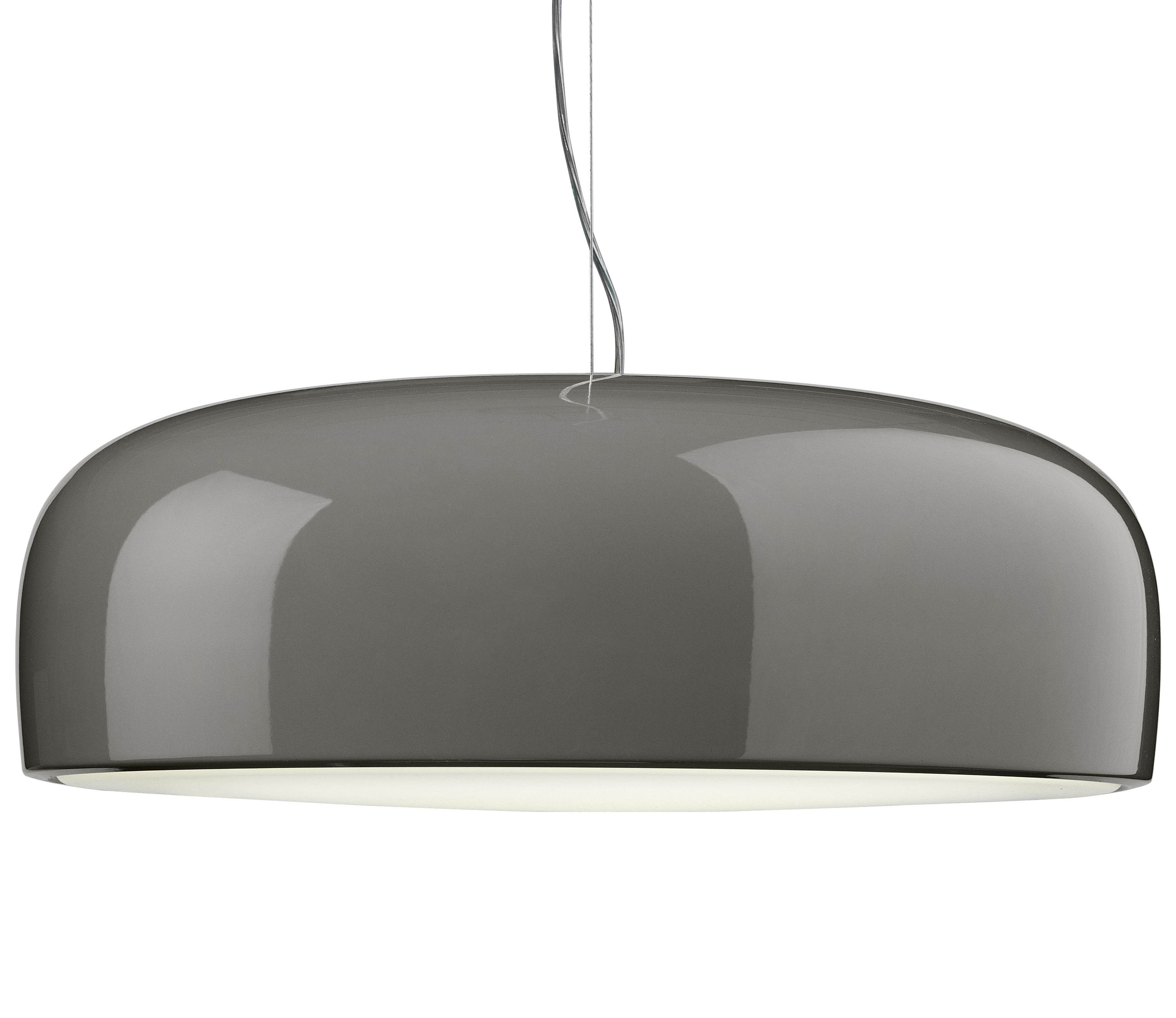 Lighting - Pendant Lighting - Smithfield Pendant by Flos - Halogen - Taupe grey - Painted aluminium, Polycarbonate