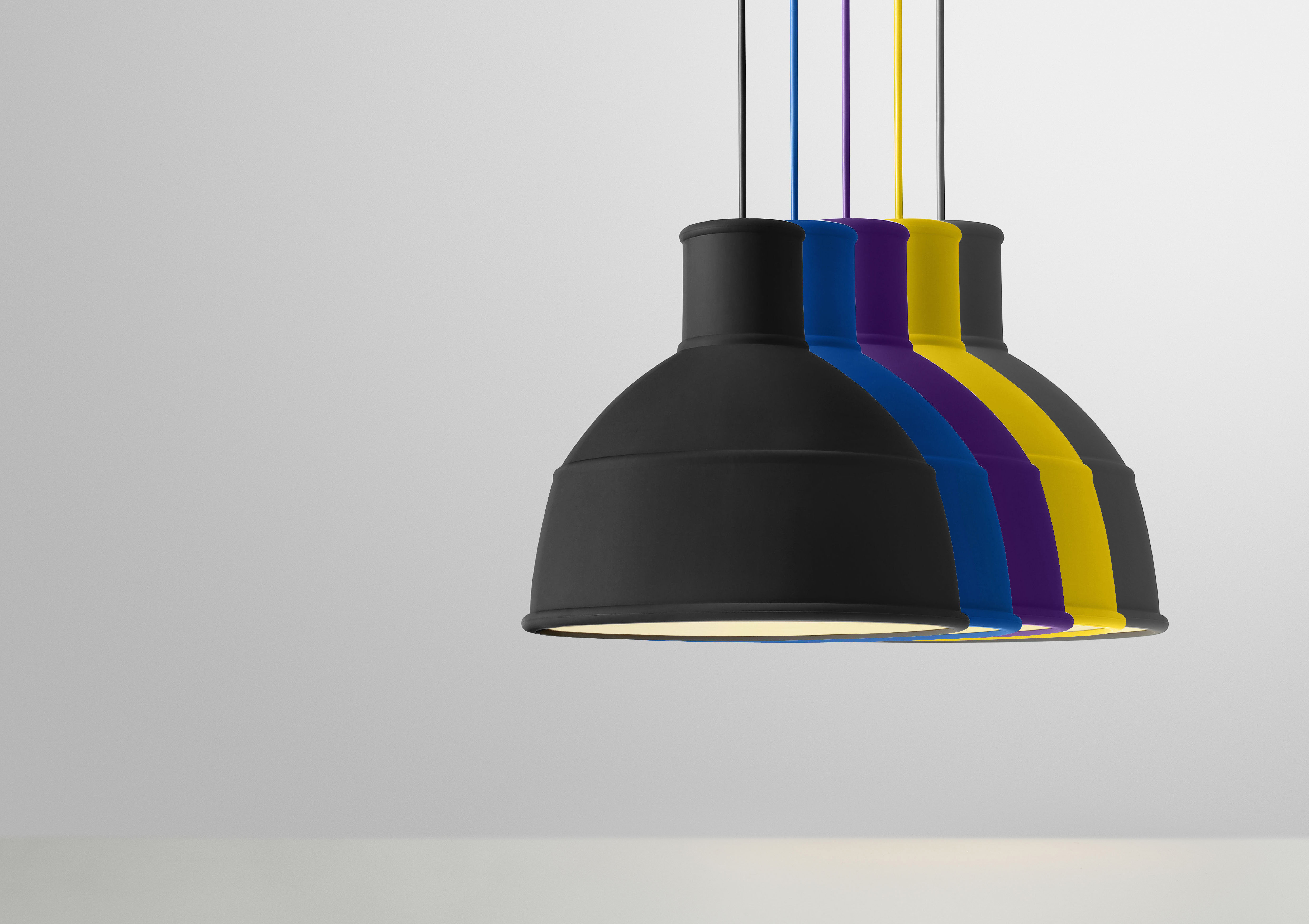 Lighting Pendant Unfold Silicone By Muuto Grey
