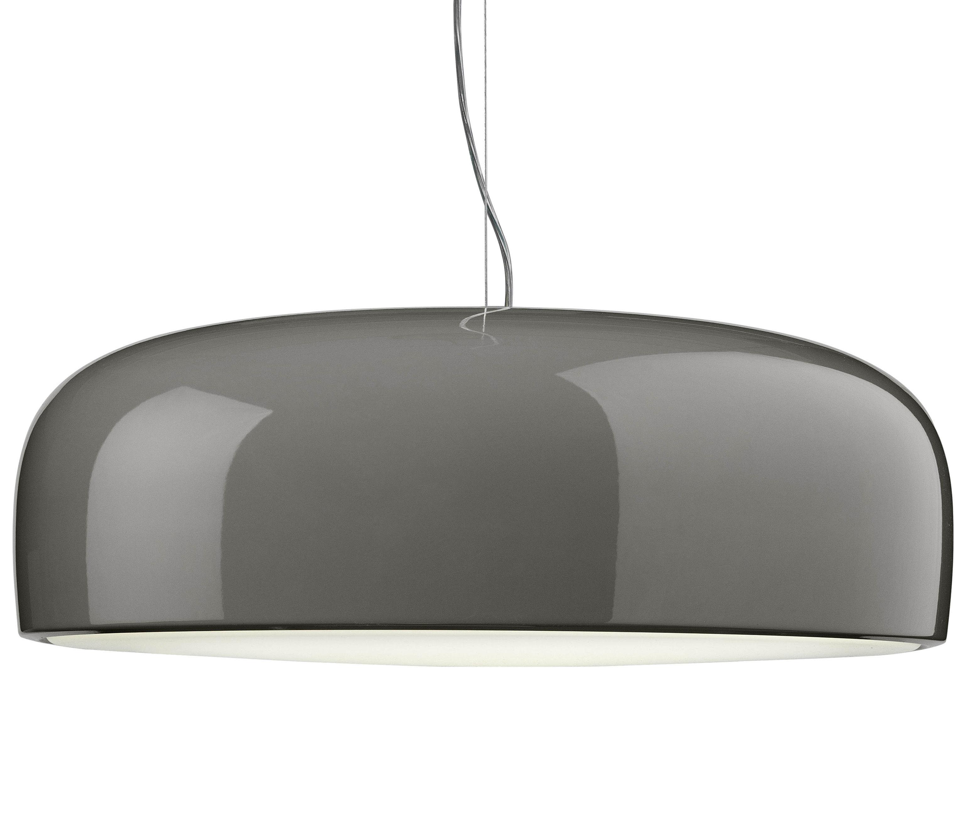 Leuchten - Pendelleuchten - Smithfield Pendelleuchte - Flos - Halogenlampe - Grau-taupe - bemaltes Aluminium, Polykarbonat