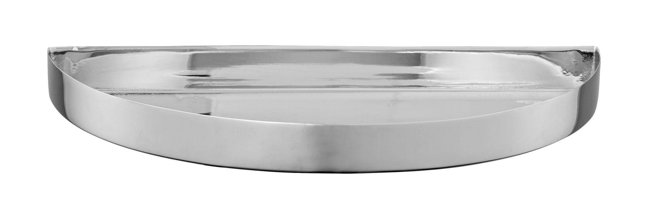 Tavola - Vassoi  - Piano/vassoio Unity - / Semi-cerchio - L 21,5 cm di AYTM - Argento - Acciaio inossidabile