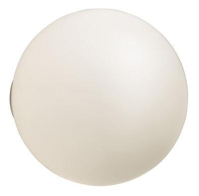 Illuminazione - Lampade da parete - Applique d'esterno Dioscuri - soffitto di Artemide - Ø 25 cm - Bianco - vetro soffiato