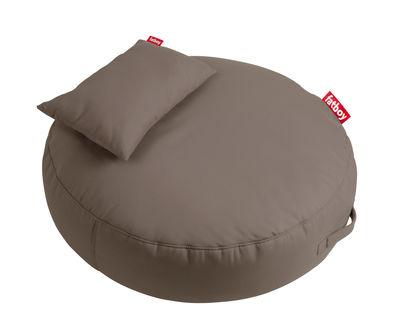 Pouf Pupillow / avec coussin - Ø 120 cm - Fatboy Ø 120 x Epais 30 cm taupe en tissu