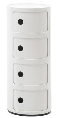 Rangement Componibili 4 tiroirs H 77 cm Kartell blanc en matière plastique