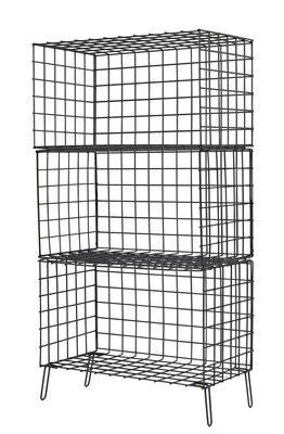 Rangement Wire Three L 56 x H 100 cm Houtique noir en métal