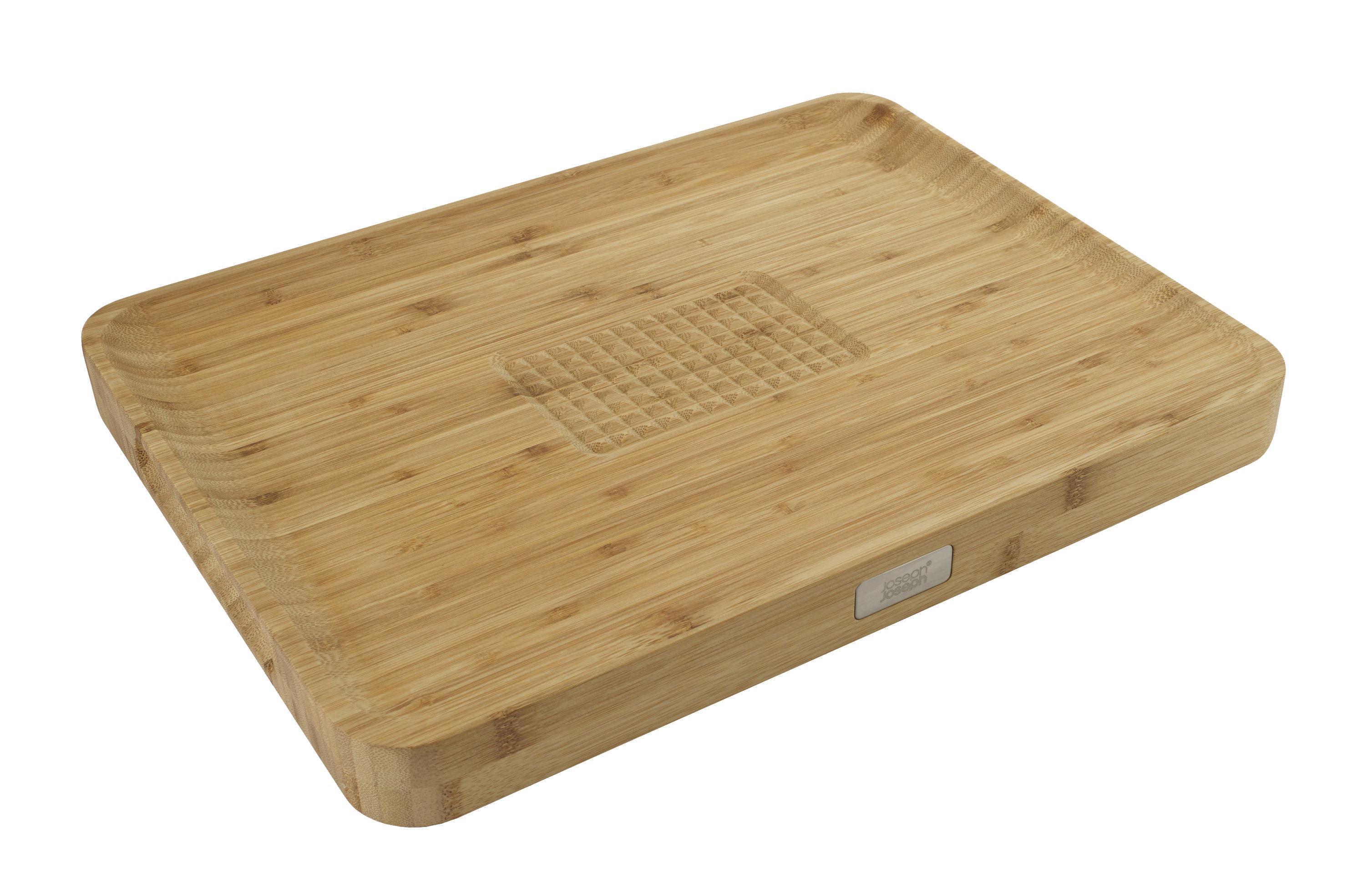 Küche - Küchenutensilien - Cut & Carve Schneidebrett Bambus / schräge Oberfläche - Joseph Joseph - Bambus, natur - Bambus