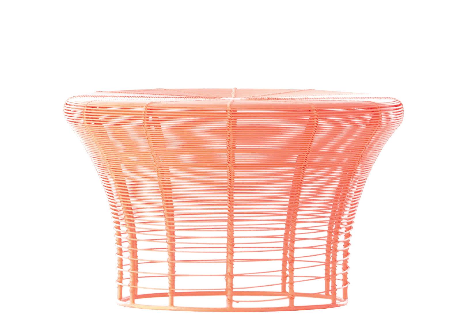 Arredamento - Sgabelli - Sgabello Aram - / Fatto a mano - Ø 41 x H 25 cm di Gan - Corallo - Acier inoxydable thermolaqué