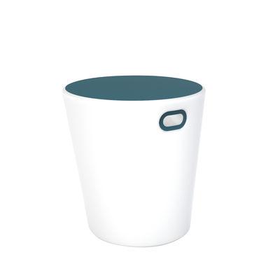 Arredamento - Tavolini  - Sgabello luminoso Inouï LED - / Tavolo - Senza fili / Bluetooth di Fermob - Blu Acapulco - Acciaio verniciato, Polietilene