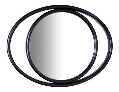 Interni - Specchi - Specchio murale Eyeshine - / 36 x 28 cm - Legno curvato di Wiener GTV Design - Nero - Frassino massello piegato, Vetro
