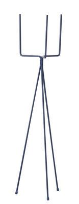 Jardin - Pots et plantes - Support pour pot de fleurs Plant Stand LARGE / H 65 cm - Ferm Living - Bleu foncé - Acier laqué