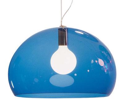 Suspension FL/Y / Ø 52 cm - Kartell bleu en matière plastique