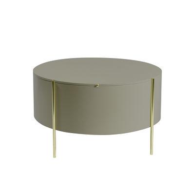 Table basse Embore / Coffre de rangement - Ø 80 x H 45 cm - ENOstudio gris en bois